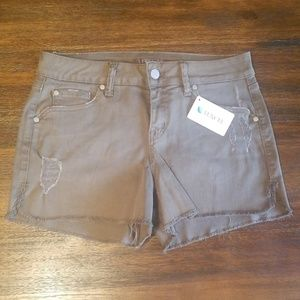 {Level 99} Distressed Jean Shorts